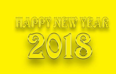 Bộ hình nền chúc mừng năm mới – Happy New Year 2018 với font chữ nghệ thuật