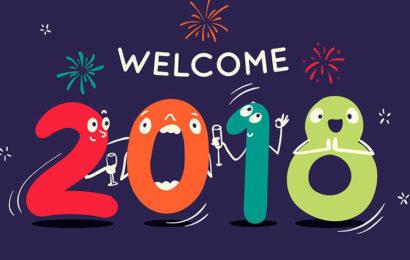 Bộ hình nền chúc mừng năm mới 2018 mậu tuất lung linh sắc màu