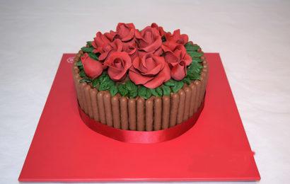 Bức thiệp, hình ảnh bánh kem hoa hồng chúc mừng sinh nhật lung linh