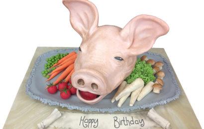 Bánh gato, bánh kem chúc mừng sinh nhật cho người tuổi Hợi (Lợn) dễ thương