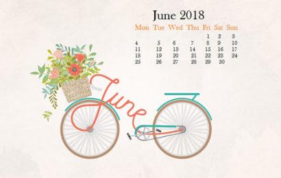 Hình nền kèm lịch chào tháng 6/2018 – Hello June đẹp