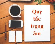 Tài liệu ngữ pháp quy tắc trọng âm trong tiếng anh