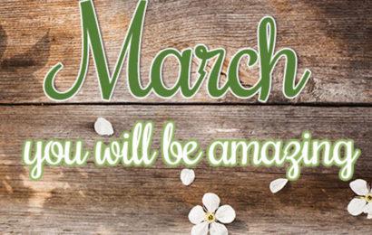 Bộ ảnh bìa, cover facebook chào tháng 3 – Hello March đẹp lung linh
