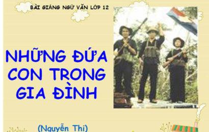 """Phân tích những điểm giống nhau và khác nhau của hai nhân vật Việt và Chiến trong truyện ngắn """"Những đứa con trong gia đình"""" của Nguyễn Thi."""