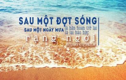 Ảnh bìa, cover facebook về biển và sóng kèm status tâm trạng