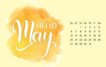 Bộ hình nền tháng 5 – hello may kèm lịch tháng 5/2018 đẹp