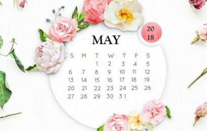 Những hình nền tháng 5 kèm bộ lịch tháng 5/2018 cho iphone đẹp