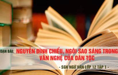 Soạn văn Nguyễn Đình Chiểu, ngôi sao sáng trong văn nghệ của dân tộc