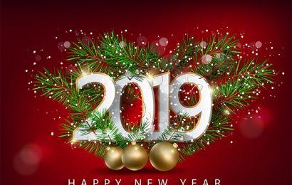 Bộ cover facebook, ảnh bìa chúc mừng năm mới 2019 ấn tượng