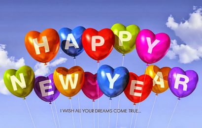 Bộ hình nền chào năm mới 2019 chữ Happy new year cho máy tính