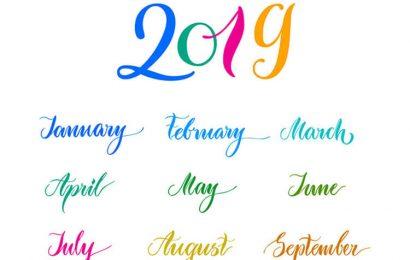Hình ảnh chúc mừng năm mới, tờ lịch 2019 in hình ngộ nghĩnh cực đẹp