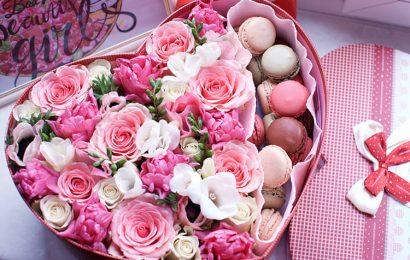 Hình nền bó hoa hồng ngày valentine đẹp , món quà cho ngày 14/2