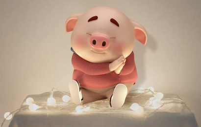 Hình nền cho iphone chú lợn tinh nghịch cực dễ thương – hình nền tết đẹp