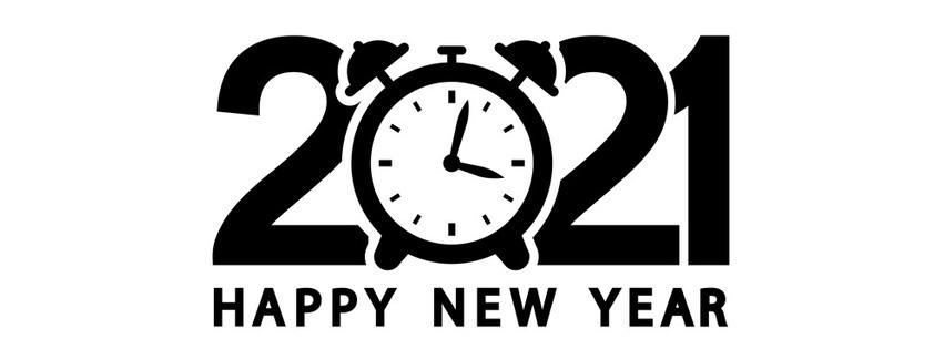 Ảnh bìa chúc mừng năm mới - Happy New Year 2021 lung linh số 19