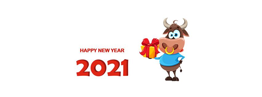 Ảnh bìa chúc mừng năm mới - Happy New Year 2021 lung linh số 50