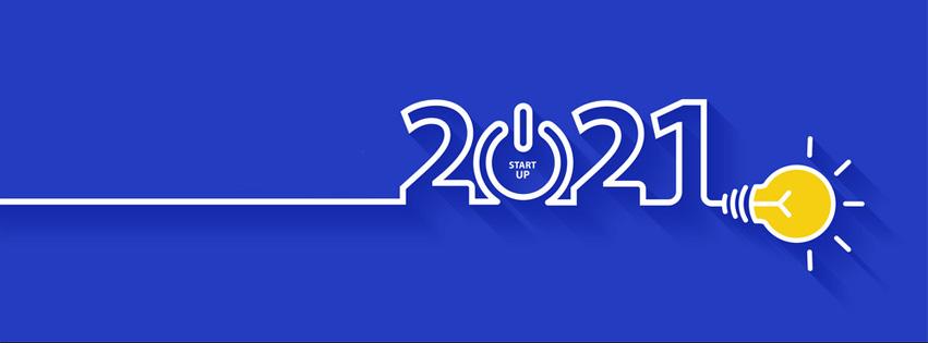 Ảnh bìa chúc mừng năm mới - Happy New Year 2021 lung linh số 10