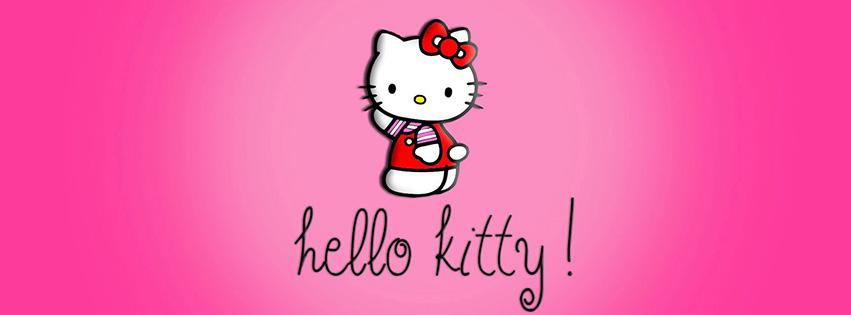 Cover facebook hoạt hình mèo Hello Kitty dễ thương số 12