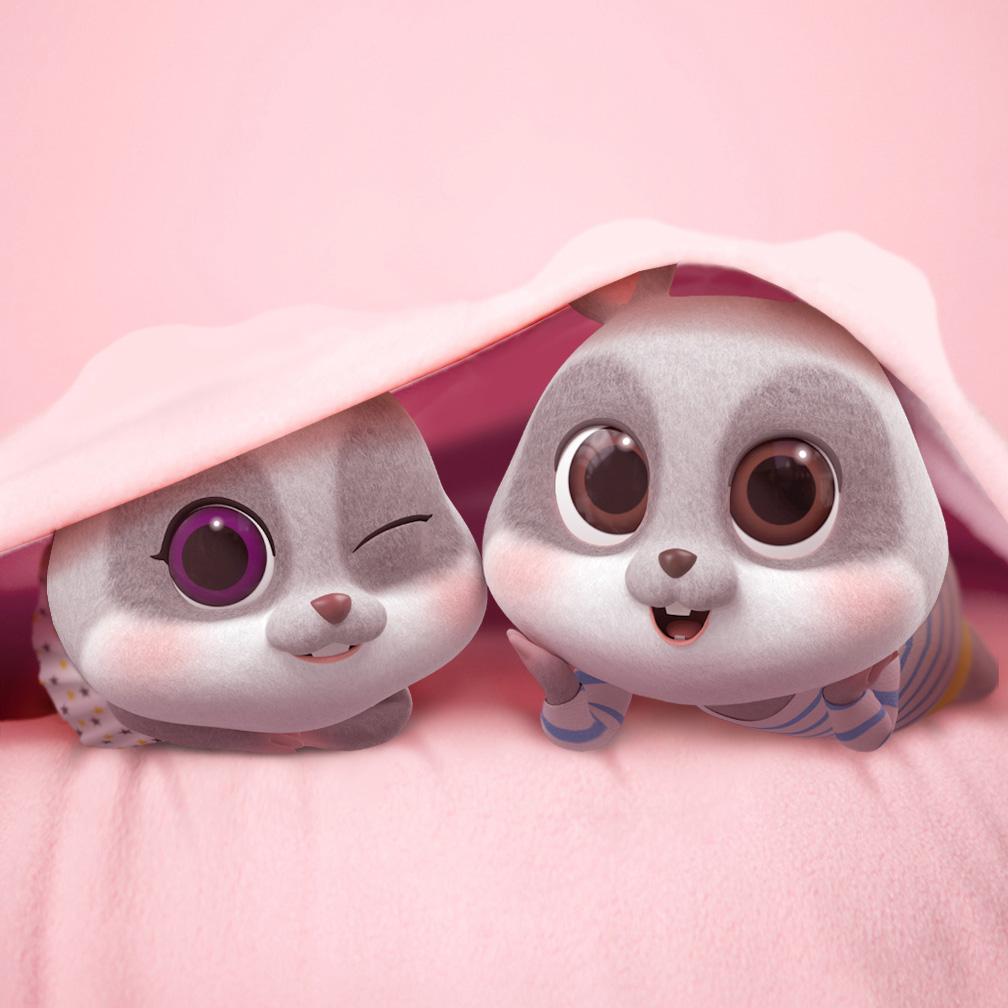 hình ảnh cặp đôi chuột chibi cực dễ thương số 7