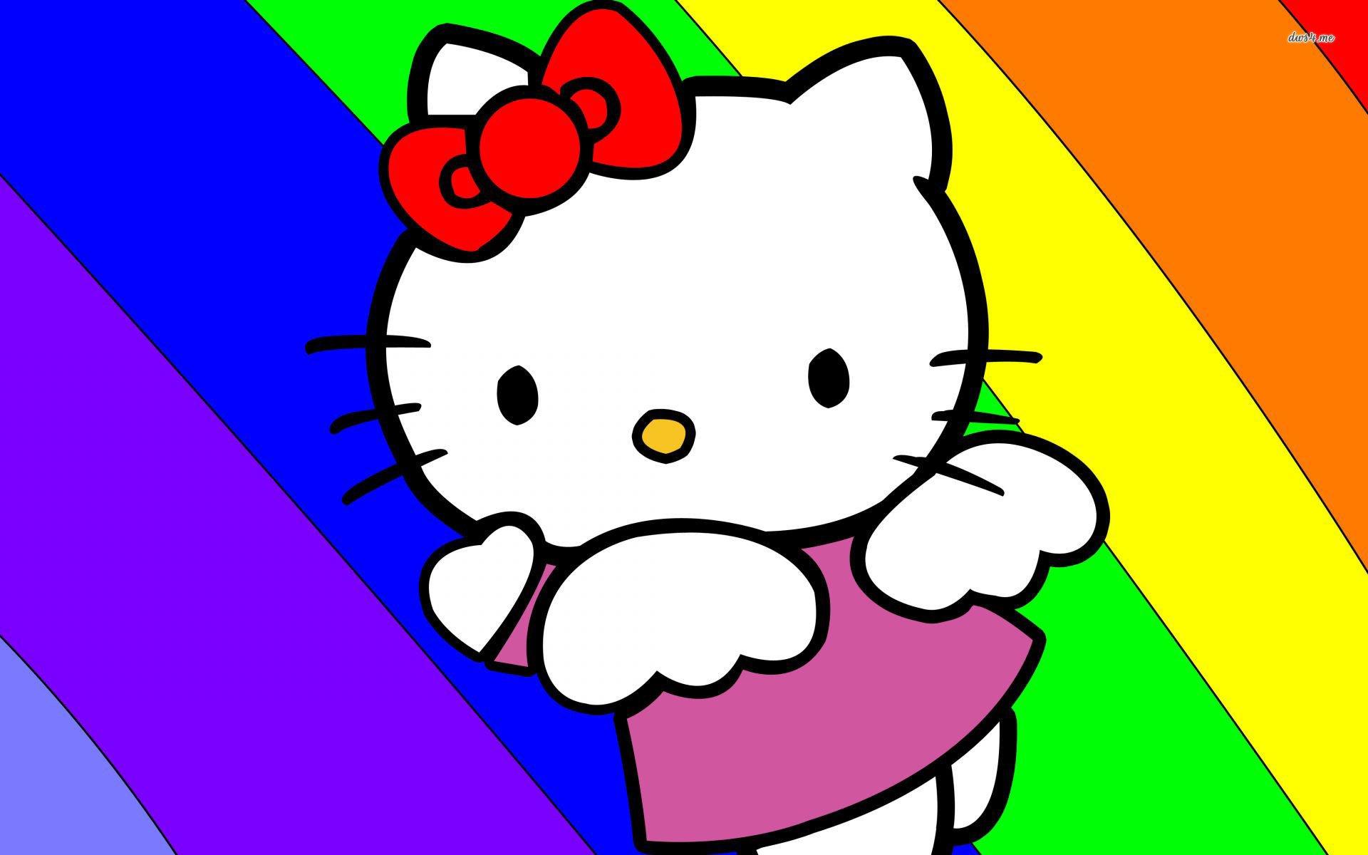 hình ảnh hoạt hình mèo Hello Kitty dễ thương cho máy tính số 10