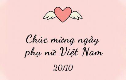 50 hình ảnh động làm thiệp chúc mừng ngày phụ nữ Việt Nam 20/10
