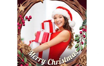 Ghép ảnh vào khung Merry Christmas mừng giáng sinh chỉ với vài giây