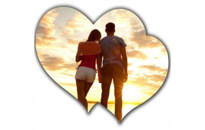 Tiện ích ghép và lồng ảnh vào khung tình yêu trái tim đôi lãng mạn