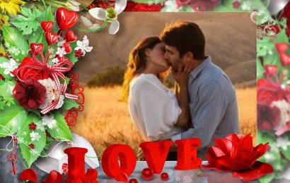 Ghép và lồng ảnh vào khung hình tình yêu chữ Love đậm đà yêu thương