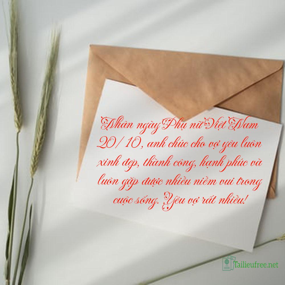 Hình ảnh kèm lời chúc 20/10 ý nghĩa làm thiệp tặng vợ-ảnh 1