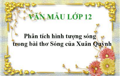 Phân tích hình tượng sóng trong bài thơ Sóng của Xuân Quỳnh