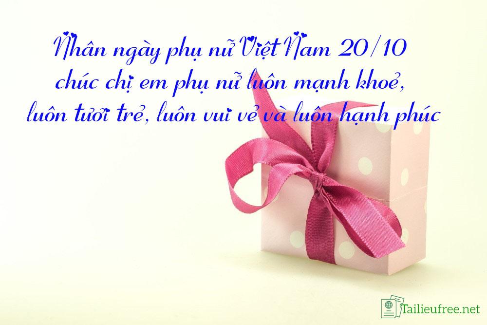 Hình ảnh hộp quà kèm những câu nói hay nhất về ngày 20/10 số 12